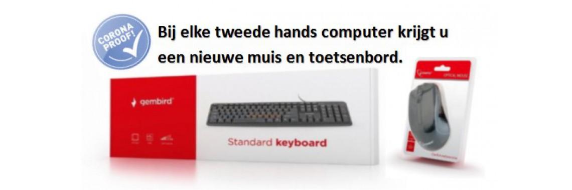 Gratis muis en toetsenbord bij een occassion computer